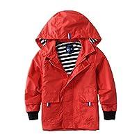 M2C Boys & Girls Hooded Cotton Lined Jacket Outdoor Light Windbreaker