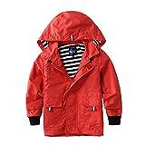 M2C Boys & Girls Raincoat Hooded Jacket Outdoor Light Windbreaker 6/7 Red