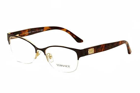 d99fe08ec9 VERSACE VE 1222 Eyeglasses 1344 Pale Gold 53-17-140  Amazon.co.uk  Clothing