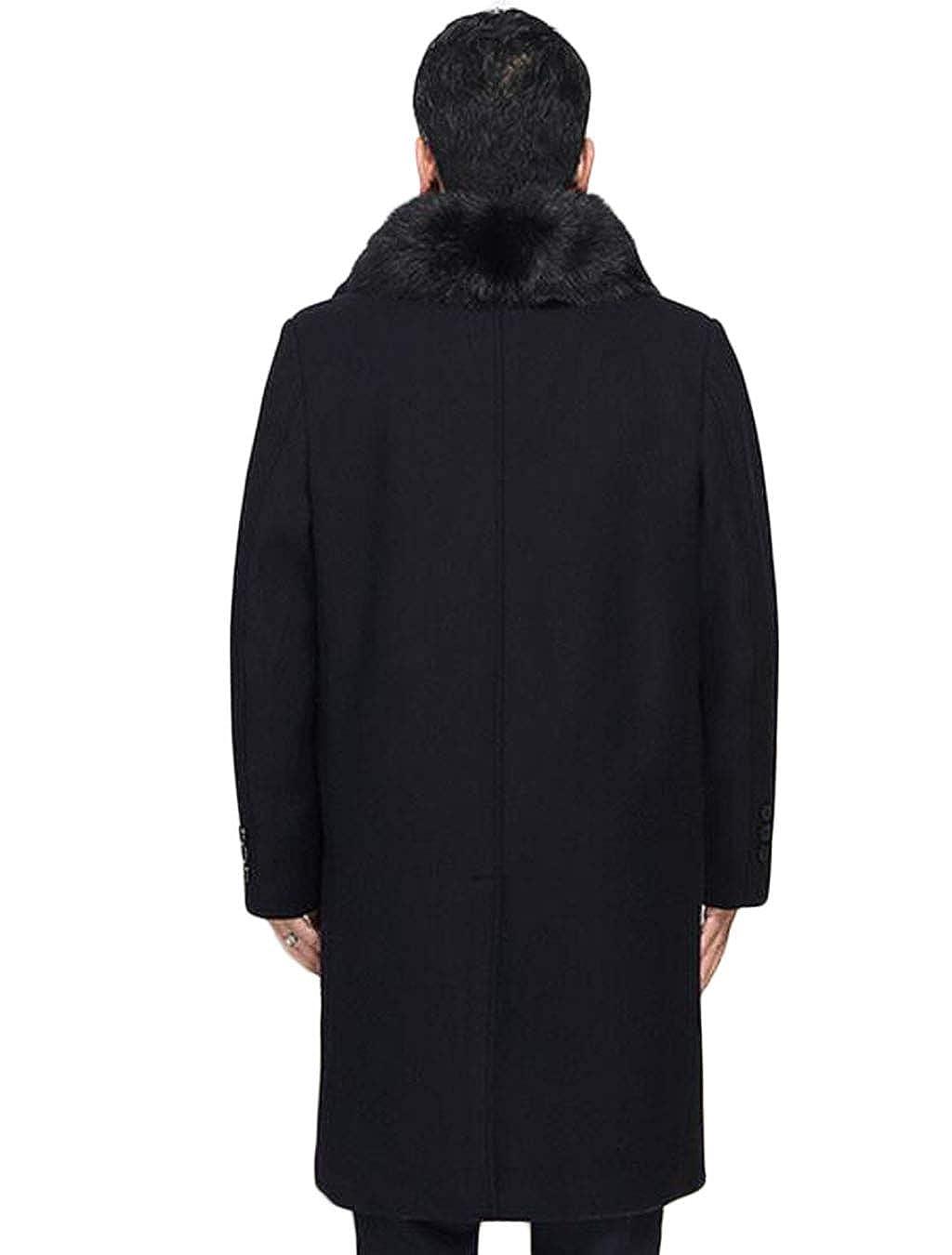 DAFREW factory Manteau en Laine pour Hommes, Trench Coat