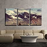 wall26 - 3 Piece Canvas Wall Art - Mountains in Alaska - Modern Home Decor Stretched and Framed Ready to Hang - 24''x36''x3 Panels