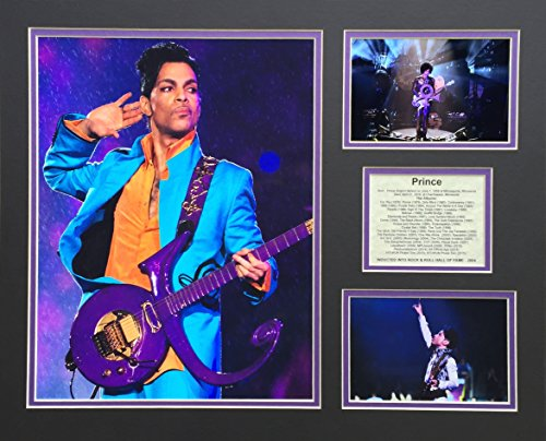 """Prince - Color 16"""" X 20"""" Unframed Matted Photo Collage By"""