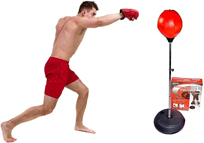 Details about  /Adjustable Freestanding Reflex Bag Punching Boxing Ball Speed Training Home GYM