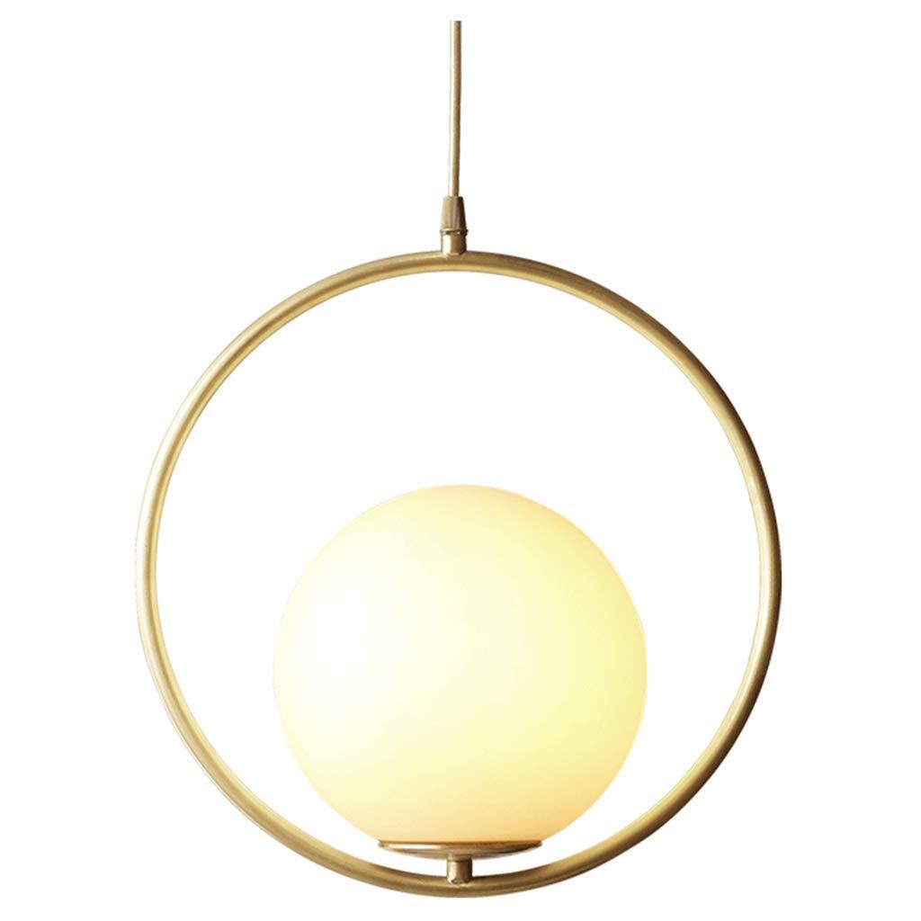 シーリングライト シングルヘッドシャンデリア - モダンミニマリストコリドールアイルバークリエイティブカッパーシャンデリア [エネルギークラスA ++] (Color : White light)  White light B07TJDVTFT