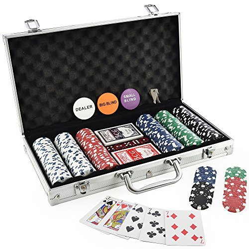 (KOVOT 300 Chip Dice Style Poker Set In Aluminum Case (11.5 Gram Poker Chips))