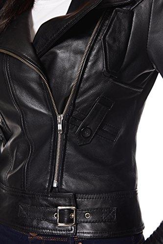 Biker Smart Noir Style Veste Réel Designer Range Cuir Femme Rock Nappa Supermodel rnTnaUt