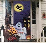 Sheerlund Halloween Door Cover 30 x 72 Ghost Witch Haunted House