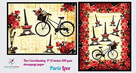 Nakshathra Designz Paris Love Decoupage Paper: Amazon in