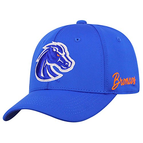 Top of the World NCAA Boise State Broncos Phenom Memory Fit 1fit Hat, Royal, Adjustable - Broncos Hats Boise State
