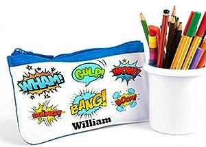 Personalizado estuche, lápiz Casos, Volver a la escuela, la escuela lápiz caso, Super Hero