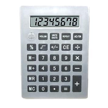 Amazon.com: Jumbo 8-Digit Talking Calculator with Square Root ...