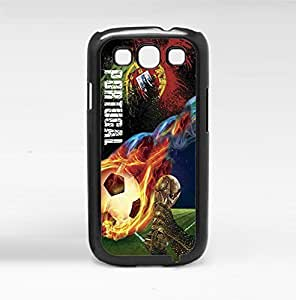 Green and Red Portugal Flag Fan Art with Colorful Fiery Soccer Ball Hard Snap on Phone Case (Galaxy s3 III) by icecream design