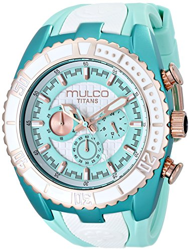 MULCO Unisex MW5-1836-433 Titan Wave Analog Display Japanese Quartz Blue Watch