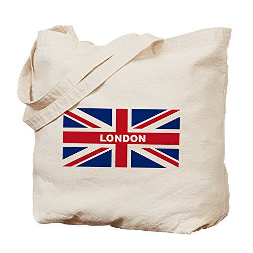 Cafepress – Bandiera London – Borsa di tela naturale, tessuto in iuta