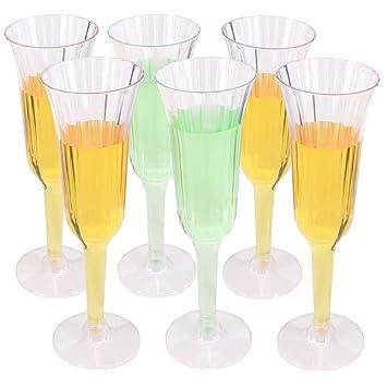 Benail - Vasos de cóctel para boda, fiesta, copas de champán de plástico transparente