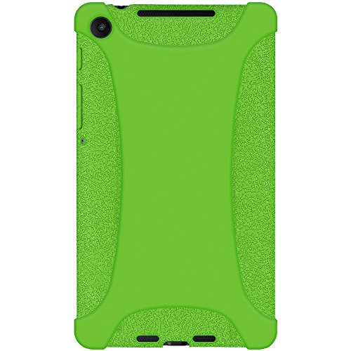 Amzer Silicone Jelly Soft Skin Fit Case Cover for Asus New Nexus 7/Google New Nexus 7, Green (AMZ96136) by Amzer