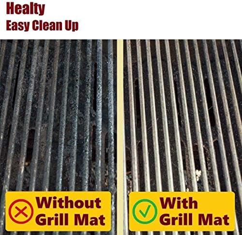 3pcs résistant à la Chaleur résistant au Lave-Vaisselle antiadhésif réutilisable réversible Barbecue Grill Tapis pour Charbon de Bois électrique Barbecue à gaz (Noir) FRjasnyfall
