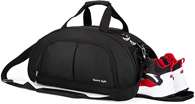 Gym Sports Small Duffel Bag for Men and Women with Shoes Compartment Mouteenoo