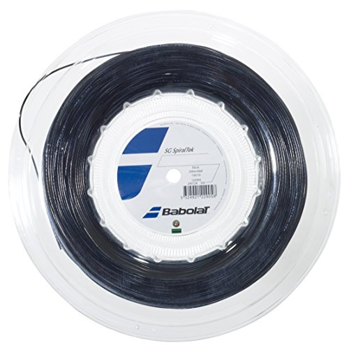 17g Black String Tennis (Babolat Spiraltek REEL Tennis String (Black, 17G))