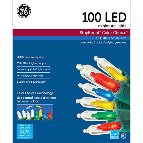 Ge 100 Count White Led Christmas Lights - 7