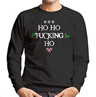 Coto7 Christmas Ho Ho Fucking Ho Men's Sweatshirt