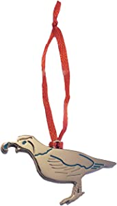Southwest Miniature Silver Charm Ornament - Arizona - Texas - New Mexico - Souvenir Southwest Christmas Ornament Stocking Stuffer Gift (Quail)