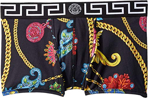 Versace Men's Jewelry Short Trunk Black Pattern 6