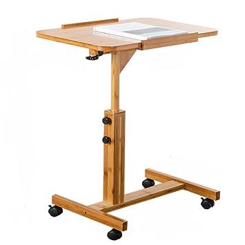 Mesa de ordenador portátil ERRU Escritorio portátil portátil Plegable de bambú Mesa de Noche Ajustable de