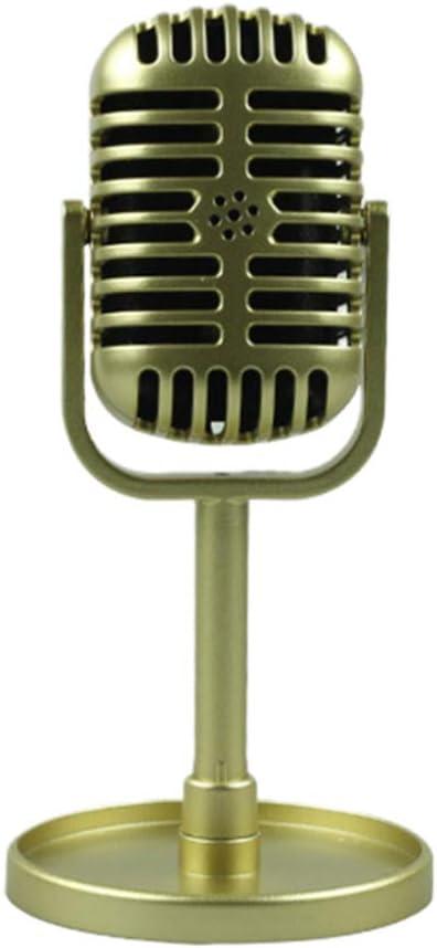 STOBOK Micrófono Vintage Modelo de micrófono Escenario de Juguete ...