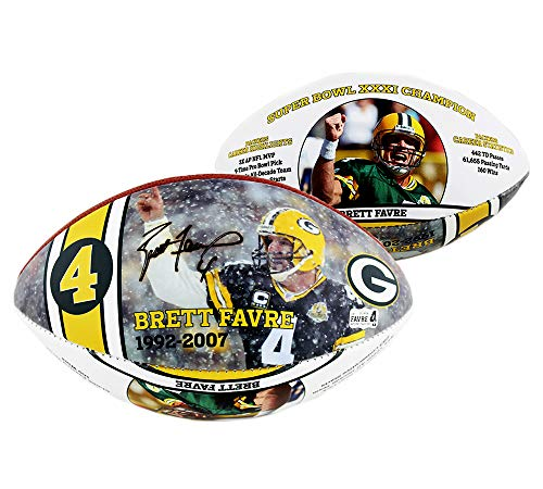Brett Favre Autographed/Signed Green Bay Packers Wilson Authentic Limited Edition Commemorative Football