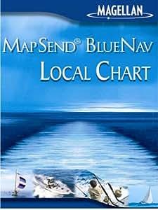 Magellan MapSend BlueNav XL Chart Lake Michigan Freshwater Map microSD Card