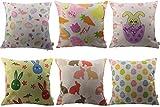 HOSL FHJ05 Happy Easter Series Throw Pillow Case Decorative...