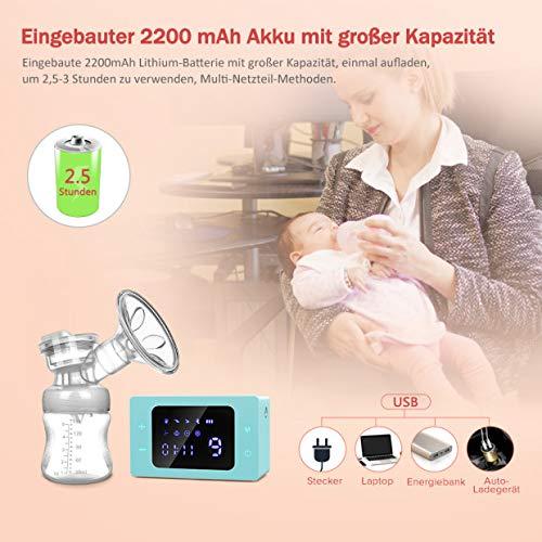 Wiederaufladbare Doppel-Stillpumpe Orange Elektrische Milchpumpe Elektrische Brustpumpe f/ür Brustmilchabsaugung und Brustmassage