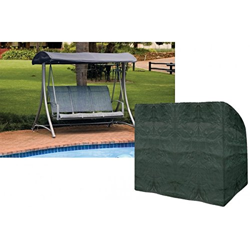 3 Seater Swing Seat Cover Waterproof Polyethylene Green Garland