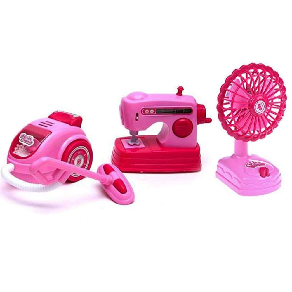 Toysery Mini Household Appliances Toy Set Material | Equipped with Lights | Easy to Play | Promote Creativity and Learning Skills of Kids | Battery Operated | Dream Gift for Girls by Toysery (Image #4)