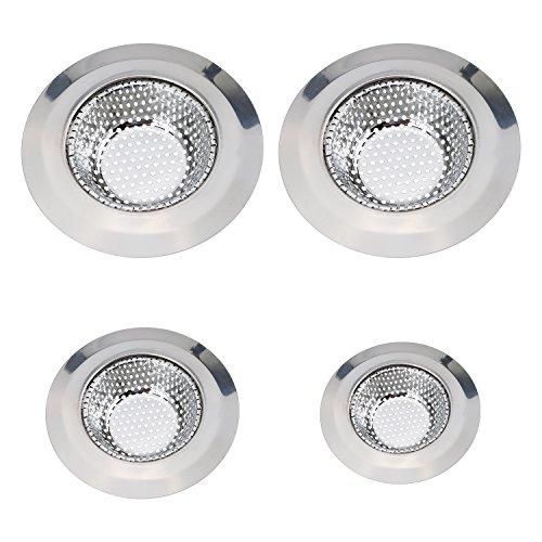 Mudder 4 Pieces Stainless Steel Kitchen Sink Strainer Waste Drain Stopper 3 Sizes