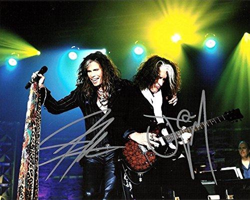 AEROSMITH - Steven Tyler and Joe Perry - Signed 8x10 inch REPRINT Photograph =