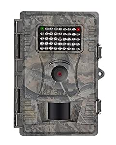 Trail Game Camera 12 MP 1080P HD Infrared Low Glow Night Vision Motion Activated Wildlife Hunting Cameras with 42 IR Leds IP54 Water Protected Design for Outdoor monitoring