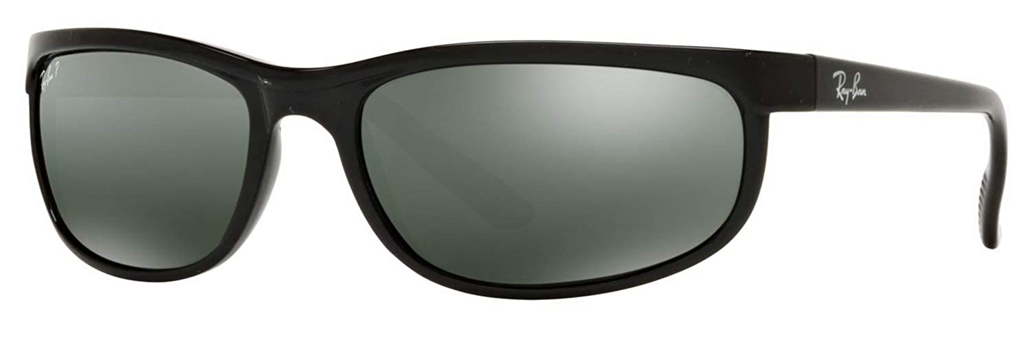8d1e79dde106 Amazon.com  RAY BAN 2027 RB2027 601 W1 62mm Predator 2 Shiny Black   Polarized  Grey Mirror  Shoes