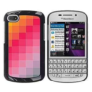 EJOY---Cubierta de la caja de protección la piel dura para el ** BlackBerry Q10 ** --Pantone Azulejos