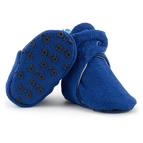 BirdRock Baby Fleece Baby Booties - Organic Cotton Lining and Anti-Slip Grippers (US 4, - Baby Ornament Bootie