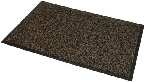 JVL–Resistente Antideslizante Barrera Puerta Suelo Mat–80x 120cm, Color marrón y Negro