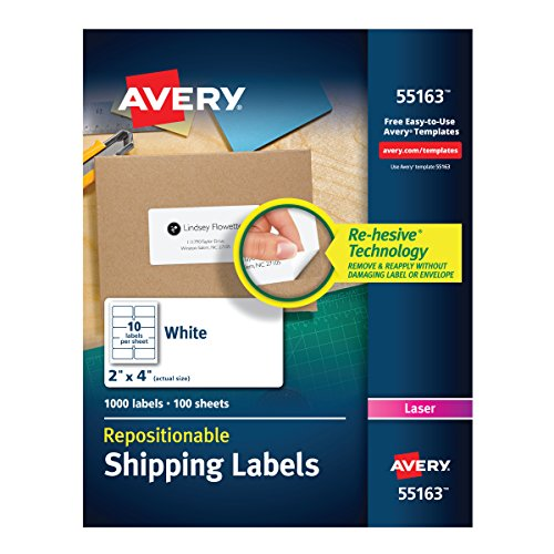 Label Address Repositionable Avery (Avery Repositionable Shipping Labels for Laser Printers 2