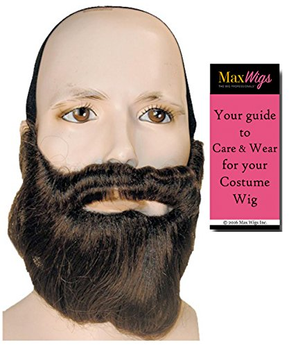 Child Disciple Costume (Bundle 2 items: Beard and Mustache Only - Special Bargain Version Biblical Jesus Christ Disciple Apostle Easter Theaterical Lacey Wigs Color Med Brown, MaxWigs Costume Wig Care Guide)