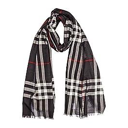 Burberry Silk check wool MU GIANT CHECK GAUZE public scarf