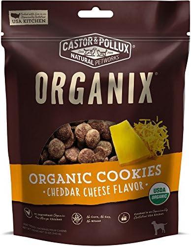 Castor Pollux Organix Dog Cookies, 12-Ounce, Cheese Flavor
