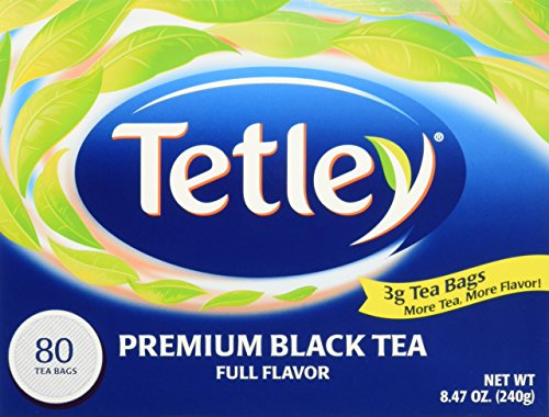 Tetley Premium Black Tea Full Flavor - 80 Ct , 8.47 Oz. (Pack of (Full Flavor Foods)