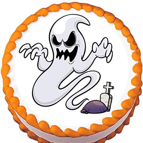 Graveyard Ghost Halloween Edible Cake Topper