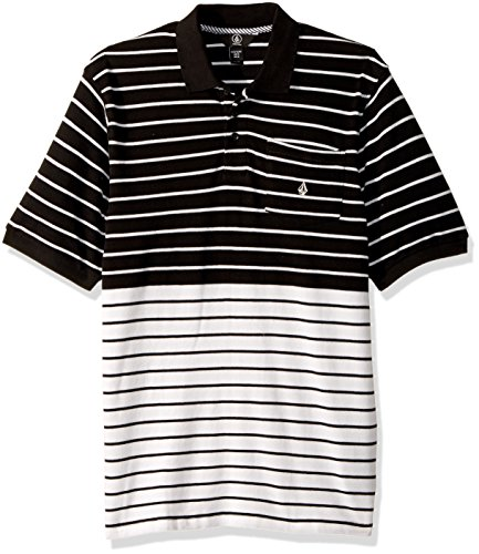 Volcom Big Boys' Wowzer Stripe Polo Youth, Black, ()