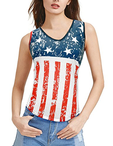 Women American Flag Shirt for 4th of July Patriotic Clothing USA Style Star Stripes Tank Top